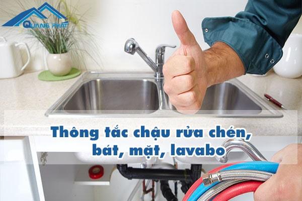 Thông tắc chậu rửa chén, bát, mặt, lavabo