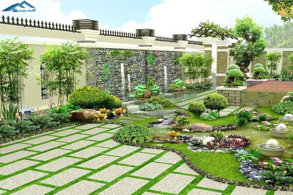 Lát gạch sân vườn nào tốt?