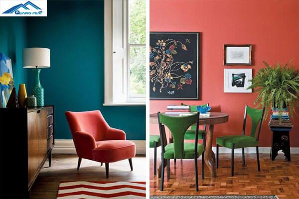 Thiết kế hiện đại kết hợp nhiều màu sắc