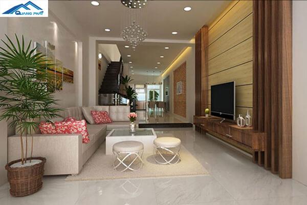 Thiết kế phòng khách cho nhà ống