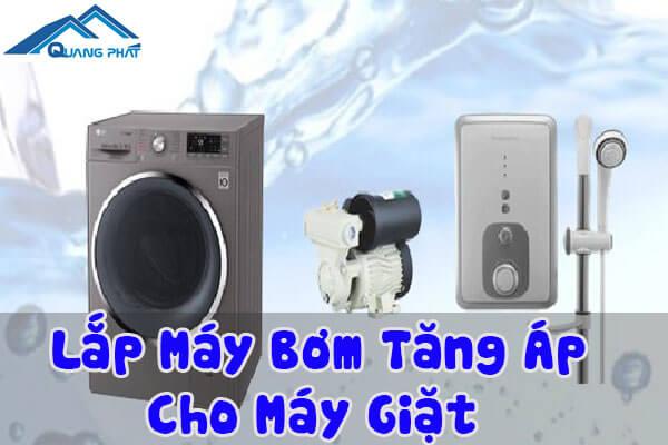 Lắp máy bơm tăng áp cho máy giặt
