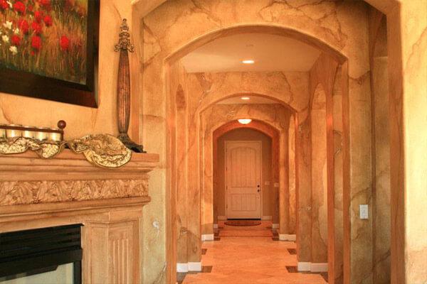 Mẫu sơn giả đá mang phong cách hiện đại